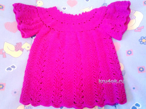 Платье для девочки. Работа Натальи вязание и схемы вязания