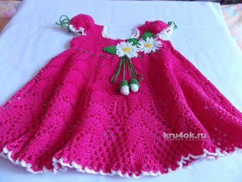 Платье для малышки Маленькая фея. Работа Натальи вязание и схемы вязания