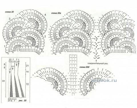 Платья d технике ленточного кружева. Работы Тамары Матус вязание и схемы вязания