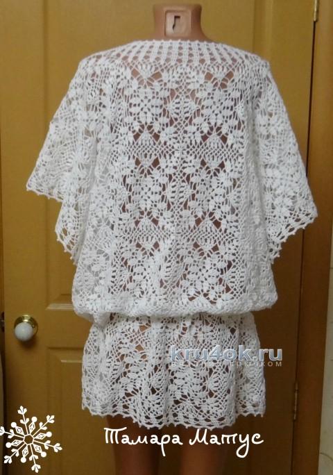Пляжная туника Белый песок. Работа Тамары Матус вязание и схемы вязания