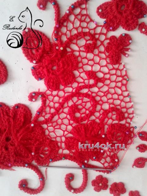 Пуловер Магия цвета. Работа Евгении Руденко вязание и схемы вязания