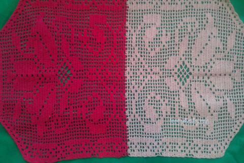 Салфетка в филейной технике. Работа Анжелики Романюк вязание и схемы вязания