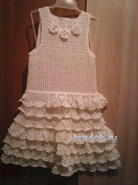 Сарафан для девочки Рафаэлло. Работа Юлии вязание и схемы вязания