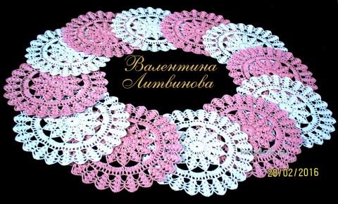 Сервировочные салфетки. Работы Валентины Литвиновой вязание и схемы вязания