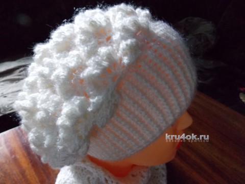 Шапка и шарф крючком. Работы Натальи вязание и схемы вязания