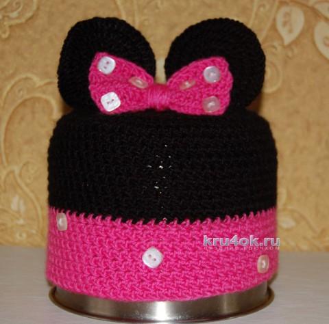 Шапочка для девочки Минни. Работа Анастасии вязание и схемы вязания