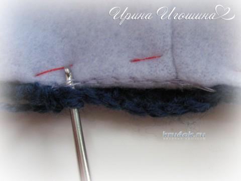 Шапочка и шарф для мальчика. Работа Ирины Игошиной вязание и схемы вязания