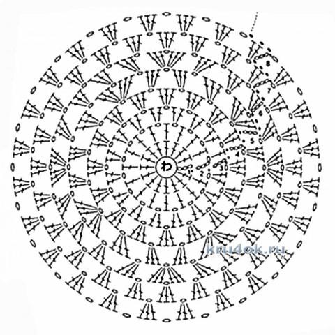 Шапочка крючком. Работа Ирины вязание и схемы вязания