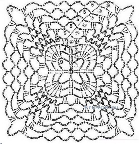 Сиреневый топ крючком. Работа Галины Леоновой вязание и схемы вязания