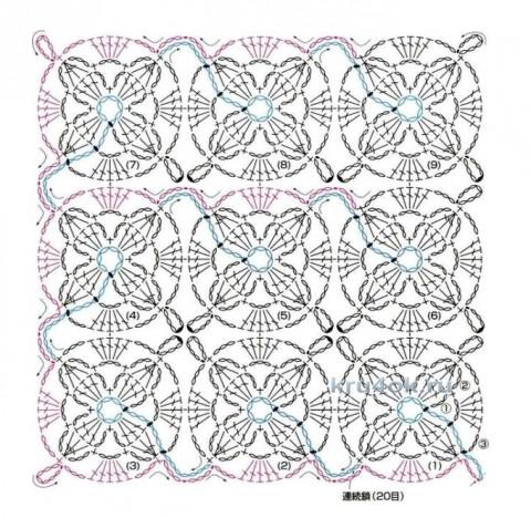 Узоры для вязания крючком безотрывное вязание