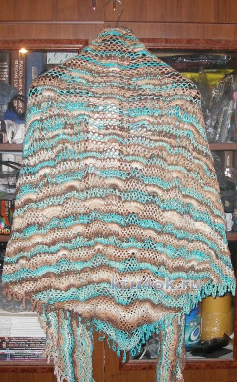 Три шали, связанные одним узором. Работы Елены вязание и схемы вязания