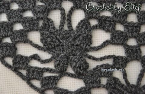 Узор для шали с бабочками. Работа Елены Кожухарь вязание и схемы вязания