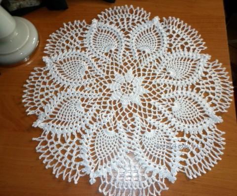 Вязаная крючком салфетка. Работа Надежды вязание и схемы вязания