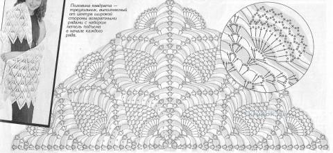 Вязаная шаль. Работа Галины Леоновой вязание и схемы вязания