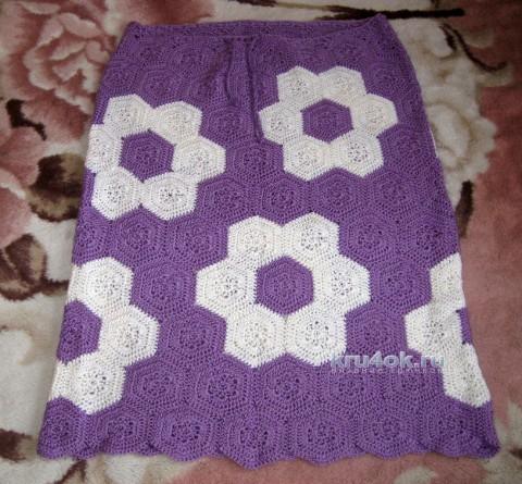 Вязаная юбка. Работа Наталии вязание и схемы вязания