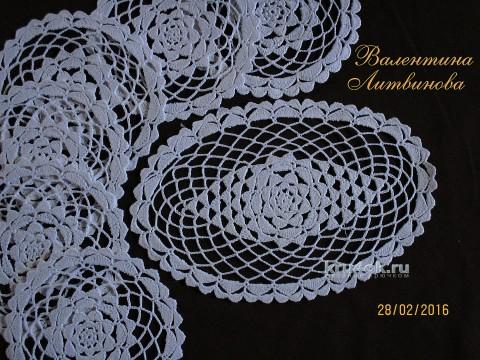 Вязаные салфетки. Работы Валентины Литвиновой вязание и схемы вязания