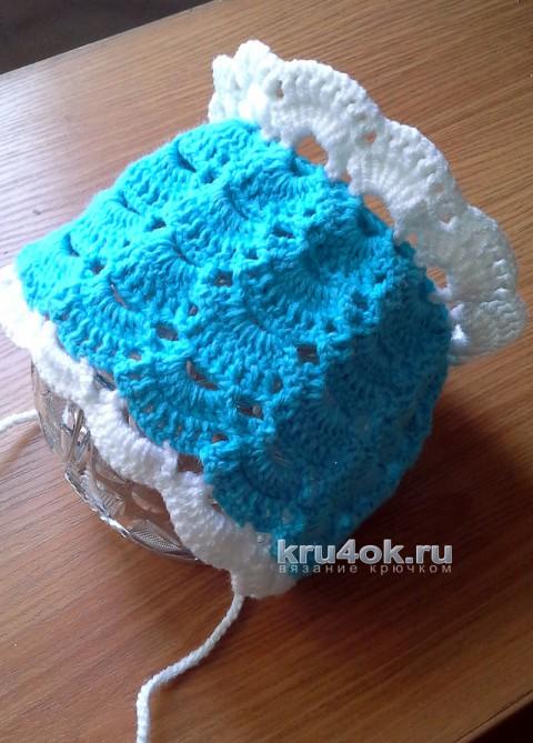 Вязаный крючком чепчик. Работа Ольги Ярославской вязание и схемы вязания