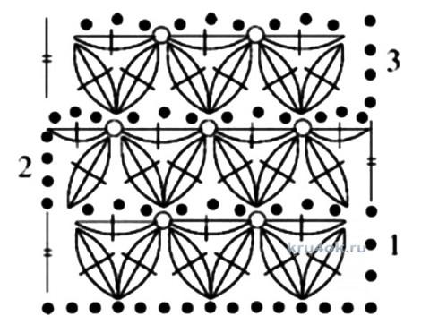 Вязаный крючком снуд. Работа Ирины вязание и схемы вязания