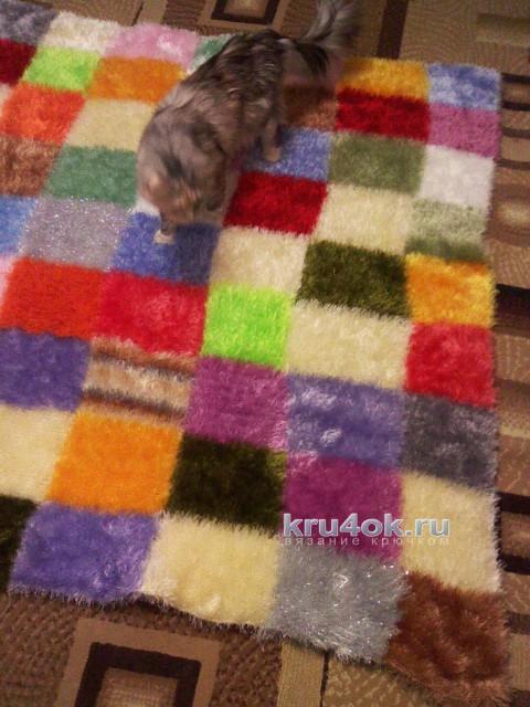 Вязаный плед. Работа Наталии вязание и схемы вязания
