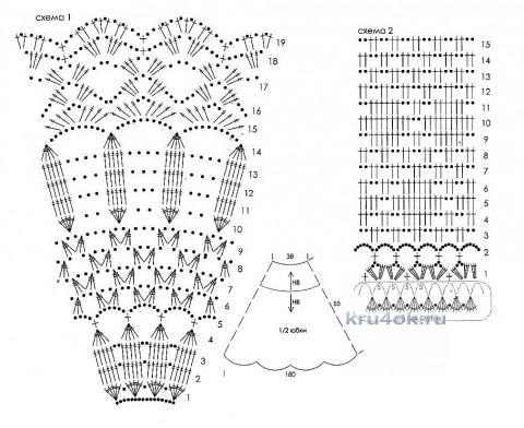 Юбка для девочки. Работа Ольги вязание и схемы вязания
