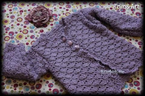 Жакет для девочки крючком. Работа Тамары вязание и схемы вязания