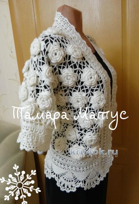 Жакет Много роз. Работа Тамары Матус вязание и схемы вязания