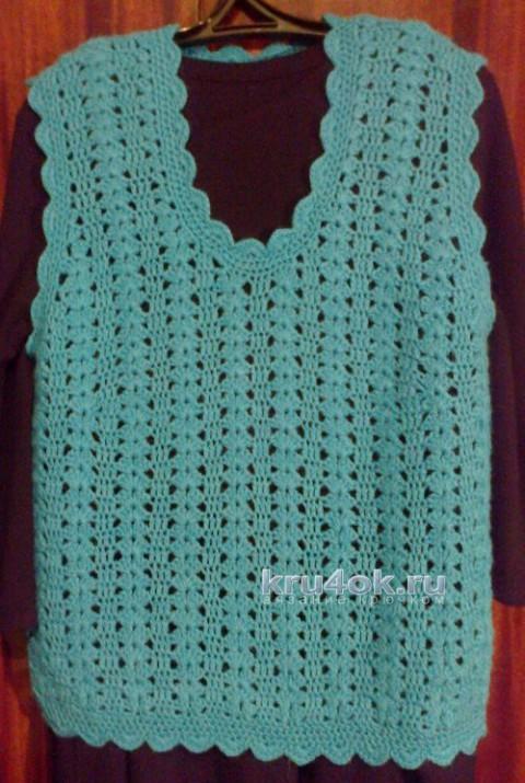 Женская безрукавка крючком. Работа Анны вязание и схемы вязания