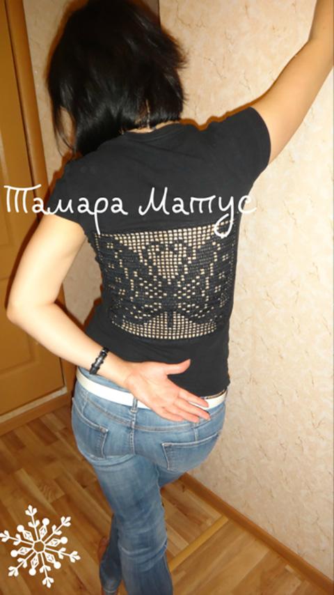 Вторая жизнь футболки. Работа Тамары Матус