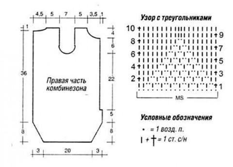 Схемы вязания комбинезона: