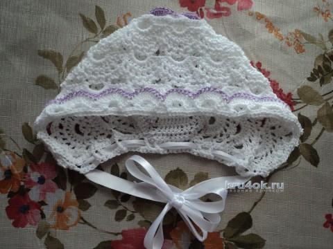 Чепчик для девочки. Работа Ольги вязание и схемы вязания