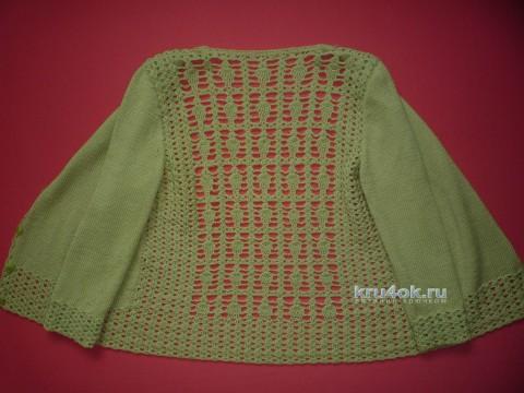 Кардиган в смешанной технике. Работа Елены Владимировны вязание и схемы вязания