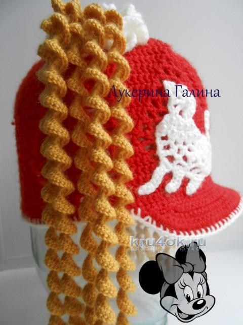 Кепка для девочки. Работа Галины Лукериной вязание и схемы вязания