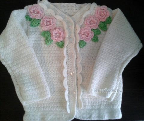 Кофточка для девочки. Работа Екатерины вязание и схемы вязания