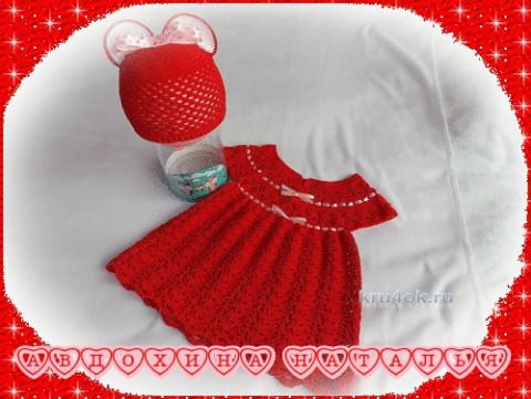 Комплект Маленькая Микки. Работа Натальи вязание и схемы вязания