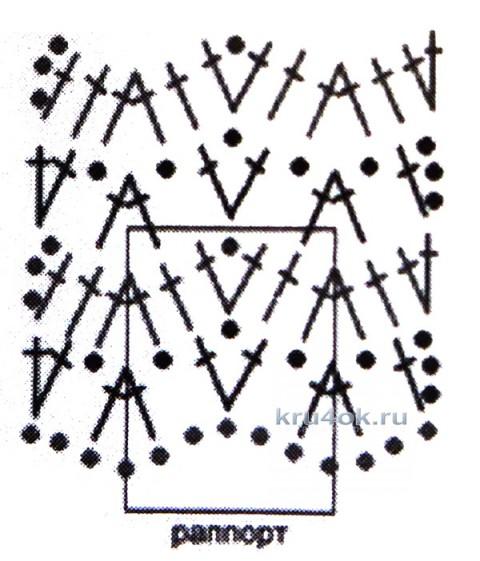 Летняя кофточка Ажурные ананасы. Работа Елены Владимировны вязание и схемы вязания