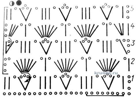 Меланжевый топ. Работа Елены Владимировны вязание и схемы вязания