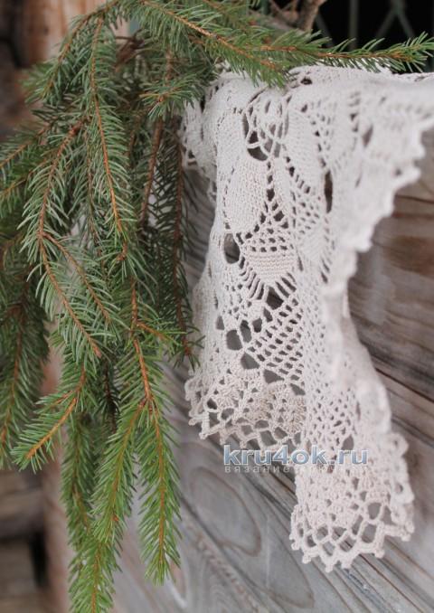 Овальная салфетка. Работа Валентины Касаткиной вязание и схемы вязания