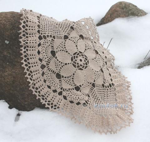 Овальная салфетка связанная крючком от Валентины Касаткиной