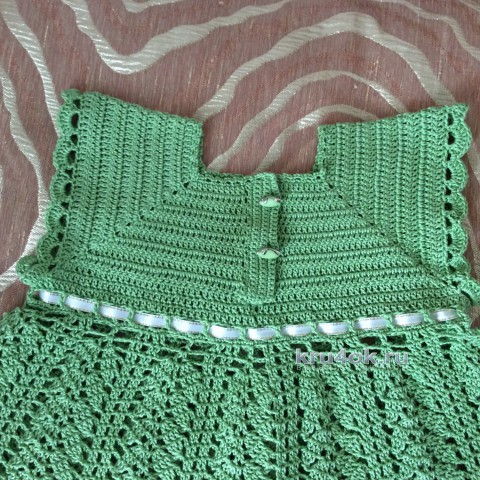 Платье для девочки. Работа Татьяны вязание и схемы вязания