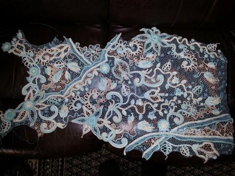 Платье в технике ирландское кружево. Работа Людмилы Максютовой вязание и схемы вязания