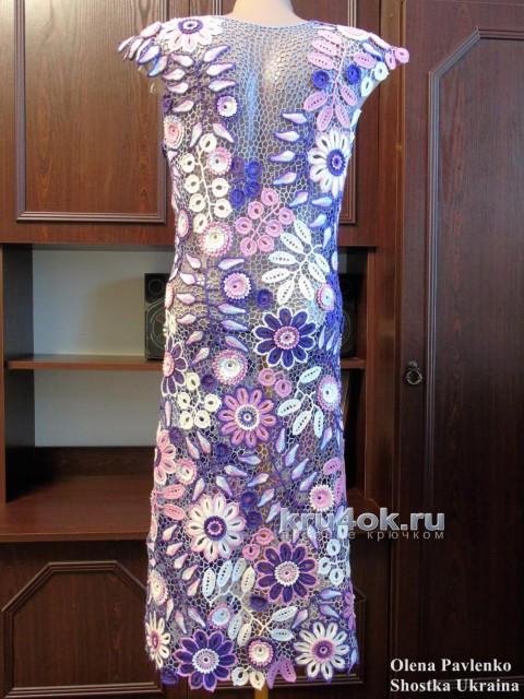Платье Виолетт. Работа Елены Павленко вязание и схемы вязания