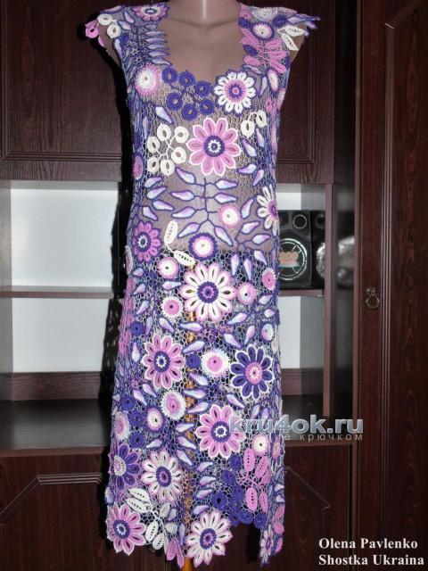 Платье Виолетт в технике ирландское кружево. Работа Елены Павленко