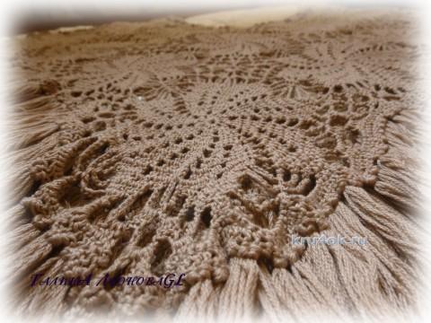Пончо для женщины. Работа Галины Леоновой вязание и схемы вязания