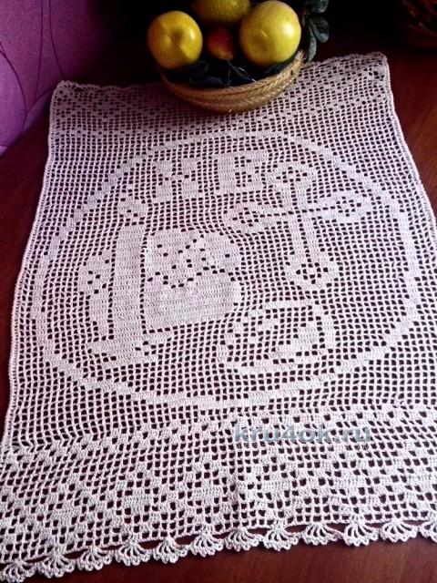 Салфетка к Пасхе. Работа Аллы вязание и схемы вязания