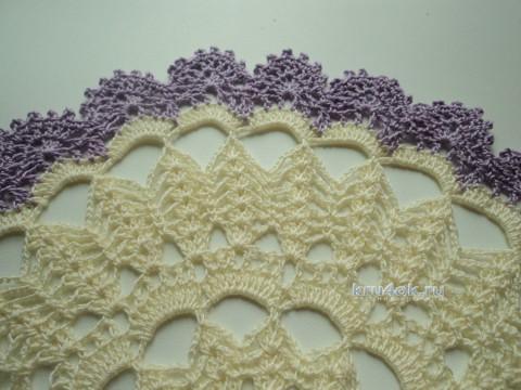 Салфетка комбинированная. Работа Ольги вязание и схемы вязания