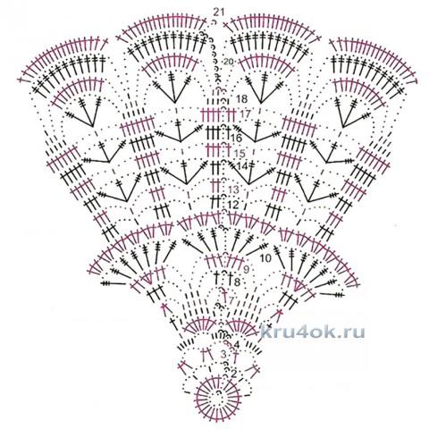 Салфетки крючком. Работы Валентины Касаткиной вязание и схемы вязания