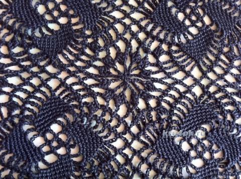 Шаль ажурная. Работа Надежды Борисовой вязание и схемы вязания