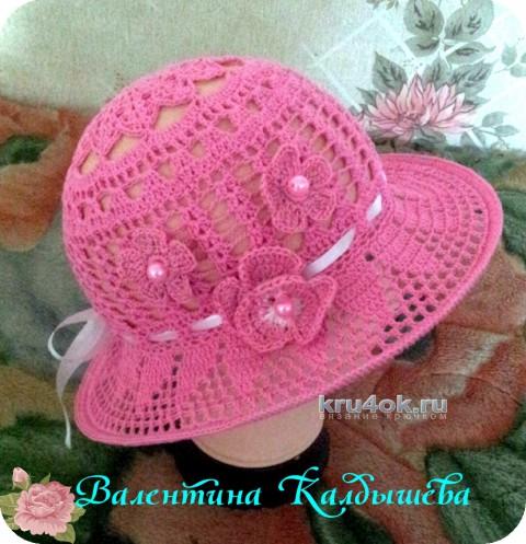 Шляпка крючком. Работа Валентины Калдышевой вязание и схемы вязания