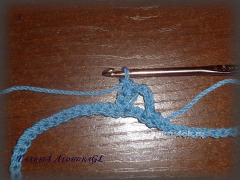 Снуд двухцветный крючком. Мастер - класс от Галины Леоновой вязание и схемы вязания