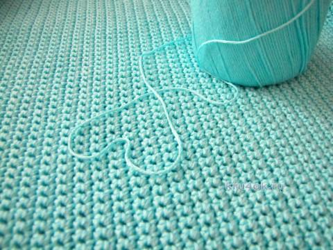 Тишотка Фируза крючком. Работа Арины вязание и схемы вязания